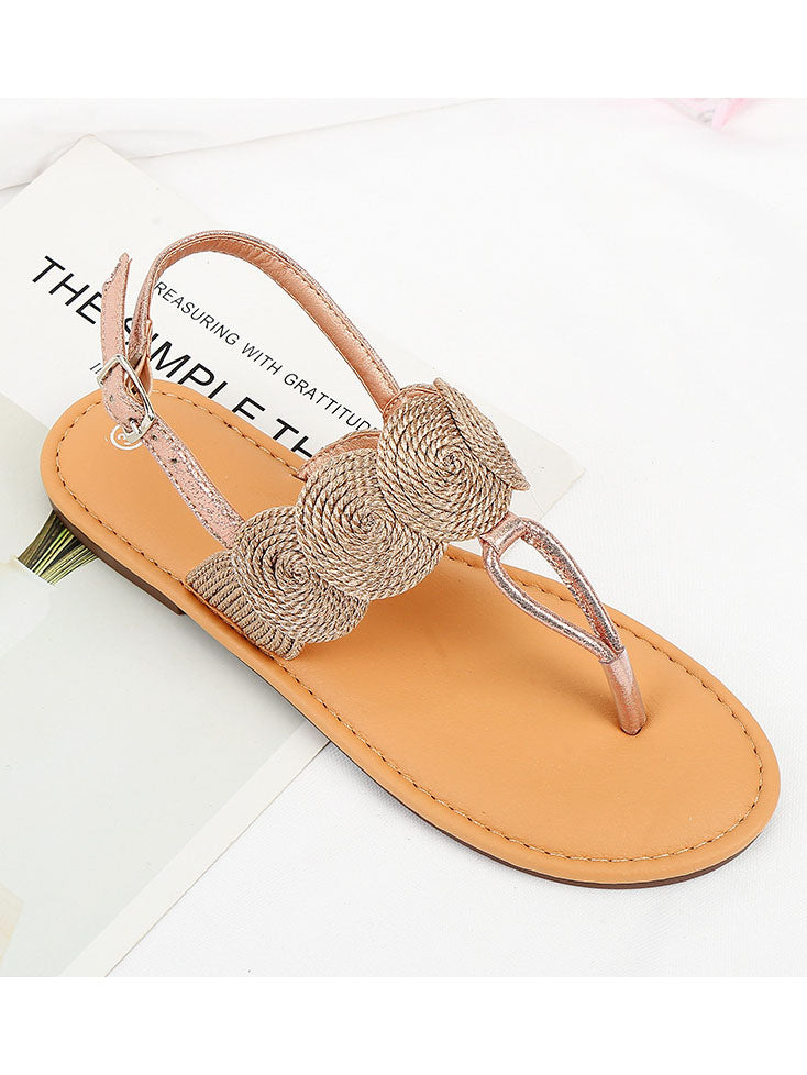 Fashion Girl Wild Sandals TPR Soft Bottom Large Size Women's Shoes Outdoor Wear Non-slip Flat Shoes