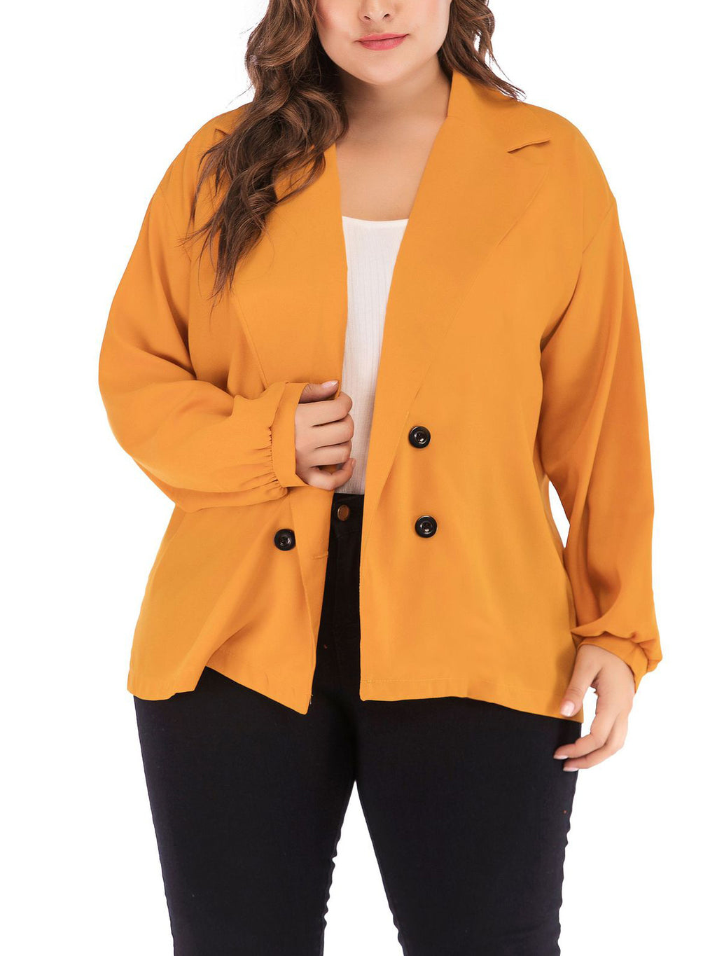 Fashion Large Size Women's Lapel Jacket