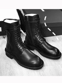 Mid-tube British Short Boots with Side Zipper Skinny Martin Boots