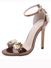 Stiletto High Heel Women's Sensational Style Word Buckle Buckle Women's Shoes