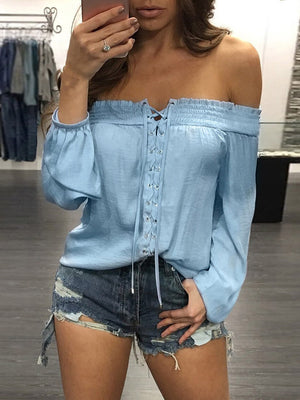 Sexy One-shoulder Blouse