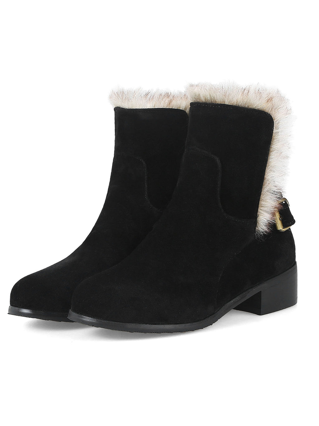 Flat Bottom Round Head High To Help Women Warm Bare Boots Autumn and Winter New Fashion Wild Trend Boots