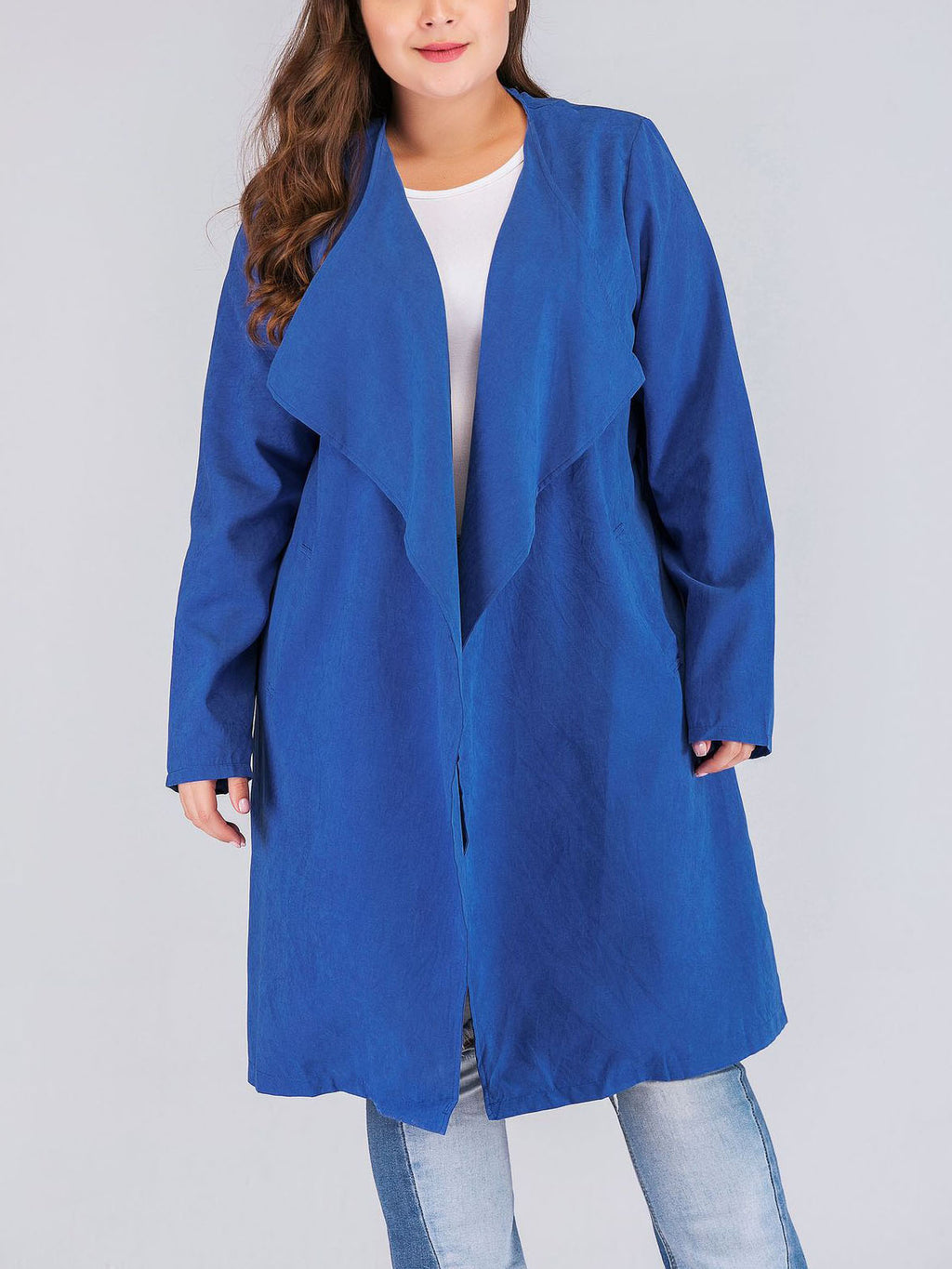Fashion Fat Sister Windbreaker Woolen Coat