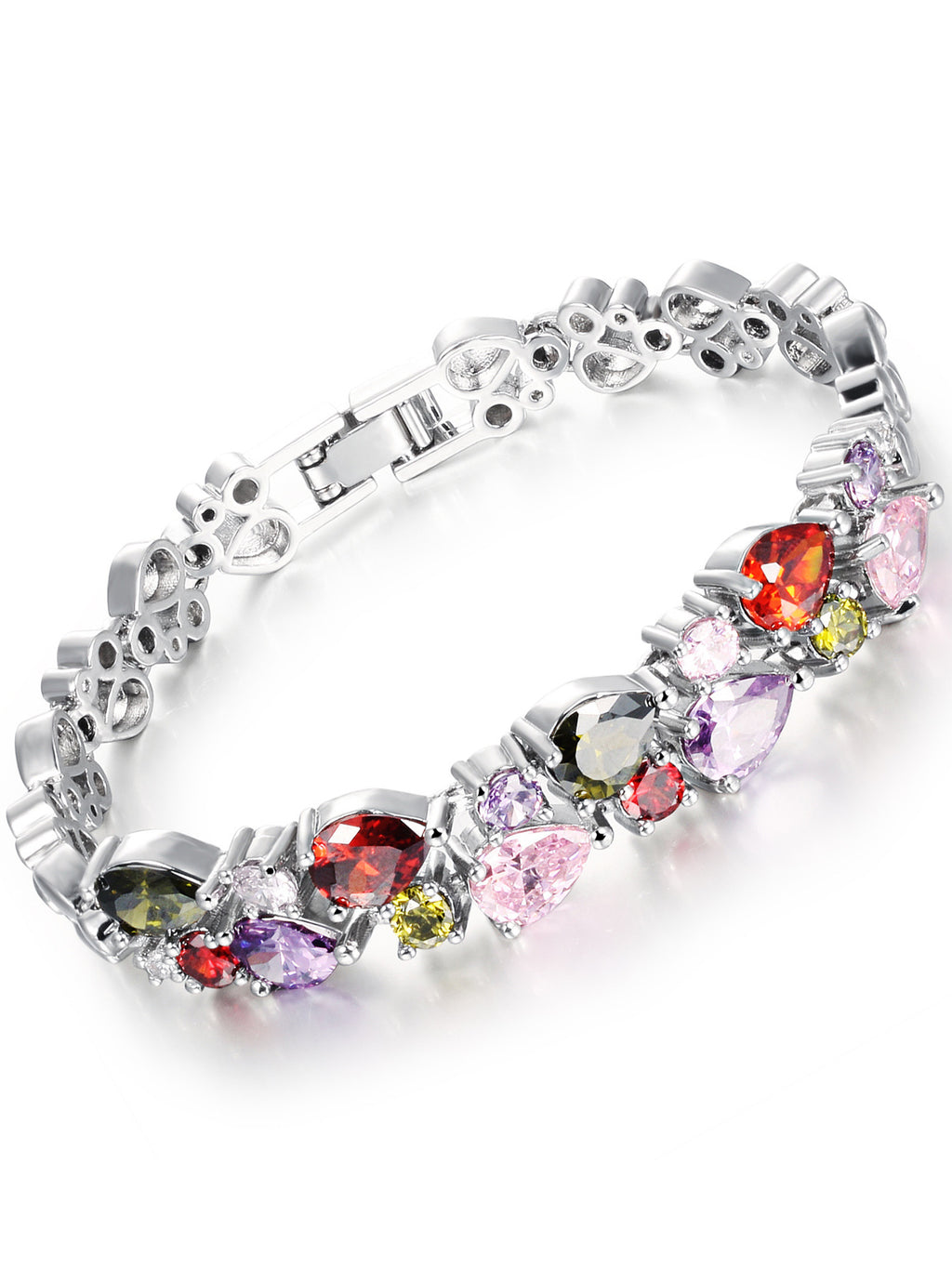 Platinum Plated Zircon Bracelet Birthday Gift Jewelry
