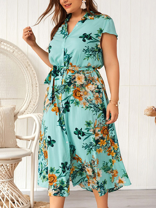 Large Size Summer New Print Fashion Dress