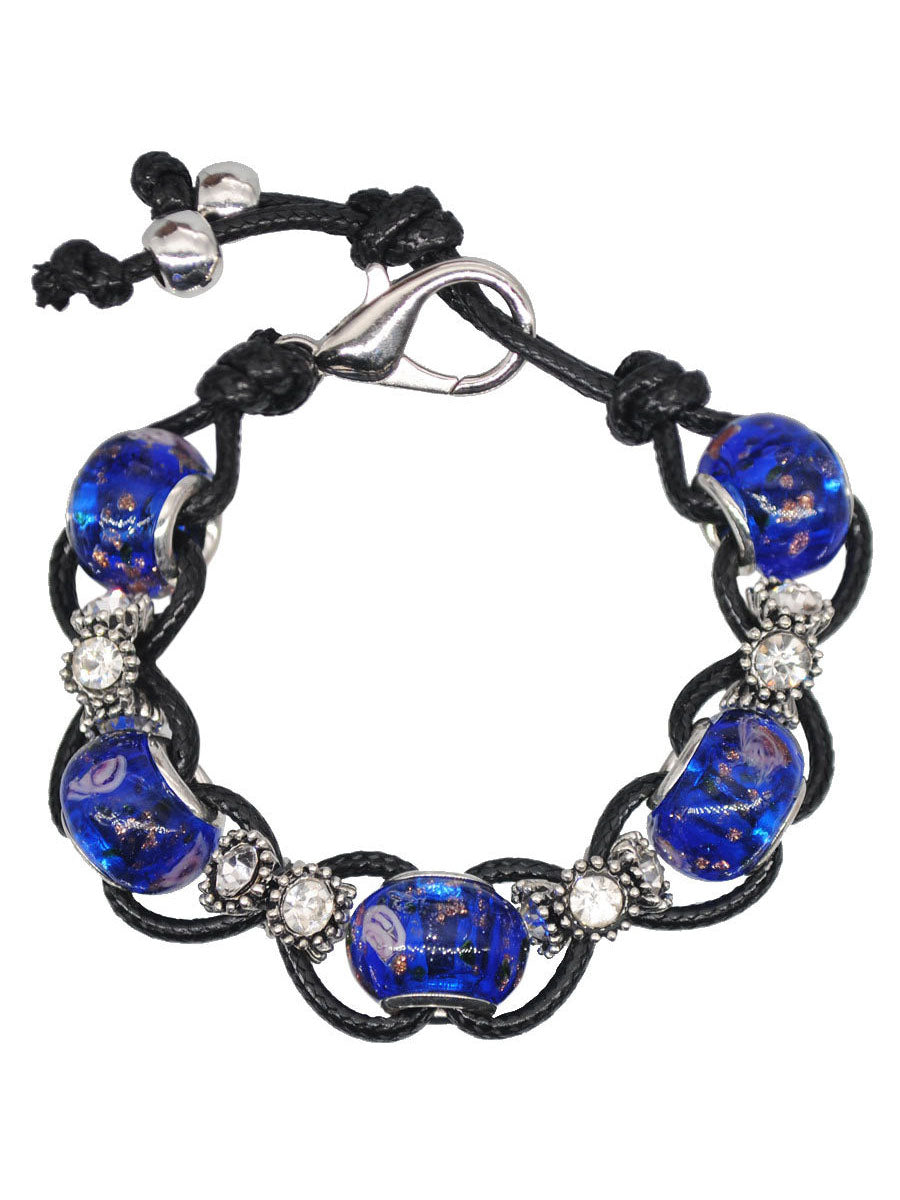 Marine glass beads beaded crystal bracelet college wind bag hanging accessories