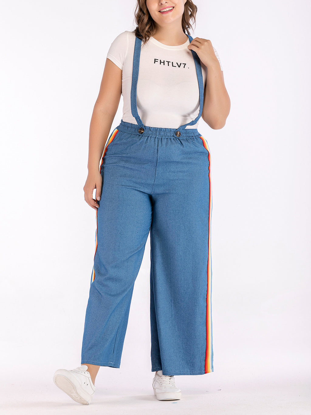 Large Size Casual Denim Overalls