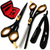 Saaqaans SQS-01 Professional Barber Hairdresser Scissors Set (Black)