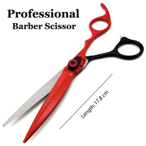 Saaqaans MSS-04 Professional Barber Hairdresser Scissors Set (Red & Black)