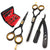 Saaqaans QSS-01 Professional Hairdresser Scissors Set (Black)