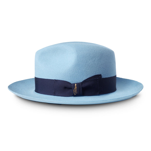 El Capo by Bellissimo European Wide Brim Fedora (Powder Blue)