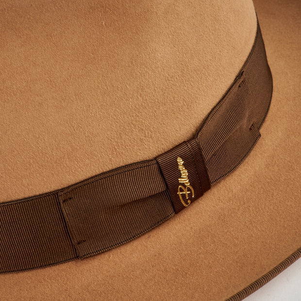 The Fox by Bellissimo 100% Rabbit-Fur-Felt Fedora (Camel)