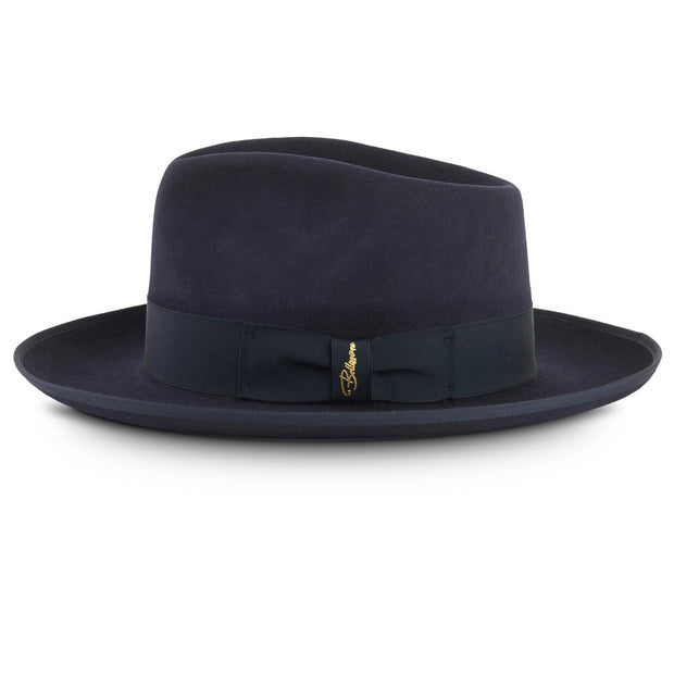 The Fox by Bellissimo 100% Rabbit-Fur-Felt Fedora (Navy)