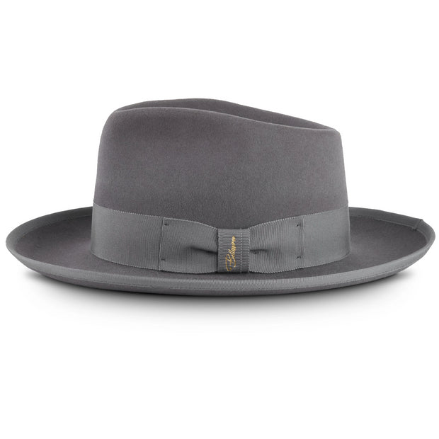 The Fox by Bellissimo 100% Rabbit-Fur-Felt Fedora (Grey)