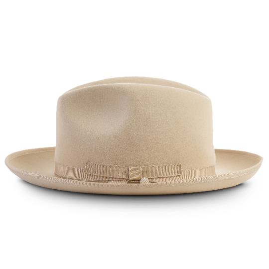 Texas by Bellissimo 100% Rabbit-Fur-Felt Fedora (Tan)