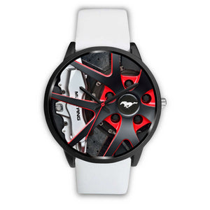 Mustang Rims Watch (genuine leather / stainless steel band)