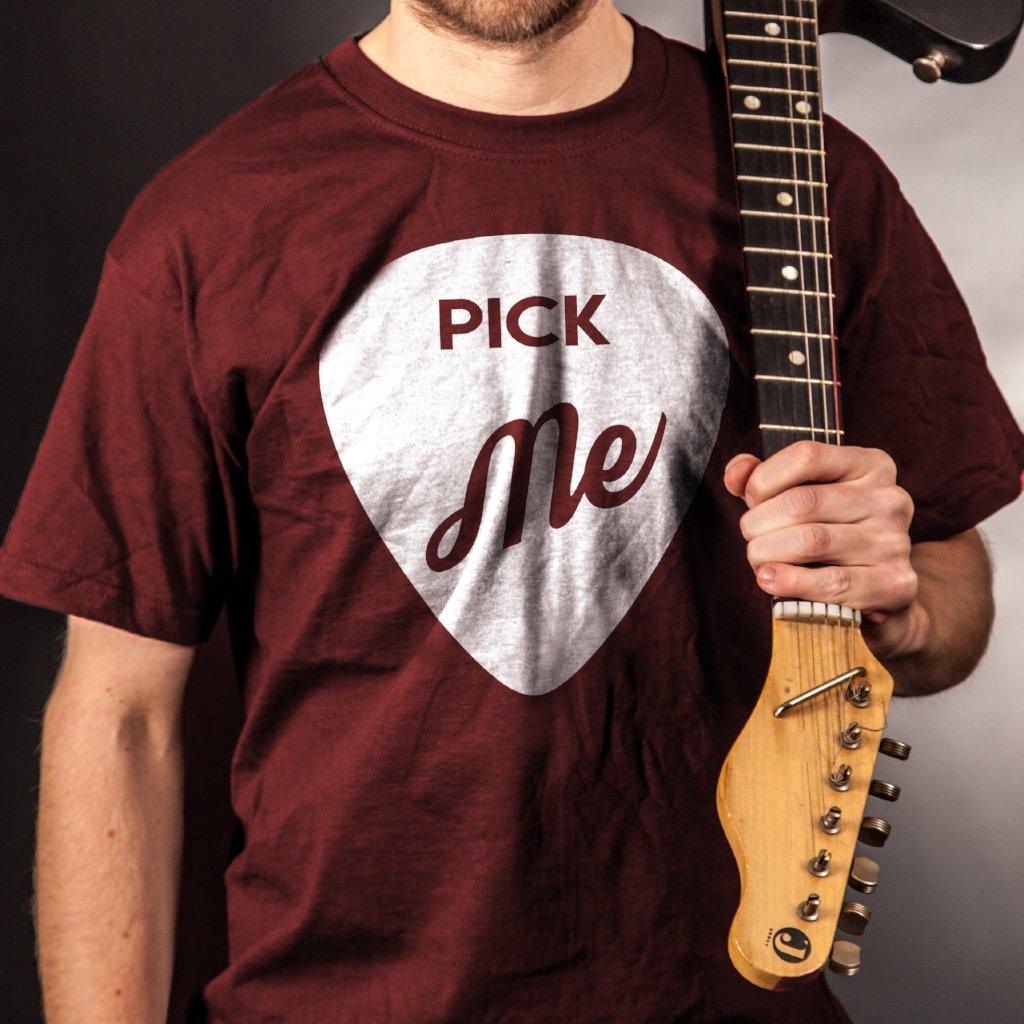 """PICK ME"" Guitar Lover Short-Sleeve Unisex T-Shirt"