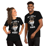 Pugs And Coffee Lovers , PREMIUM Short-Sleeve Unisex T-Shirt