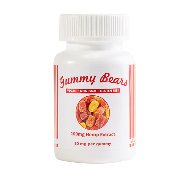 Vegan Friendly Gummy Bears 100mg
