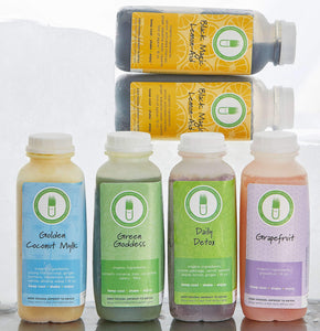 Organic College Wellness Pack. Cold-pressed, raw, no HPP, detoxify and cleanse, weight loss, wellness
