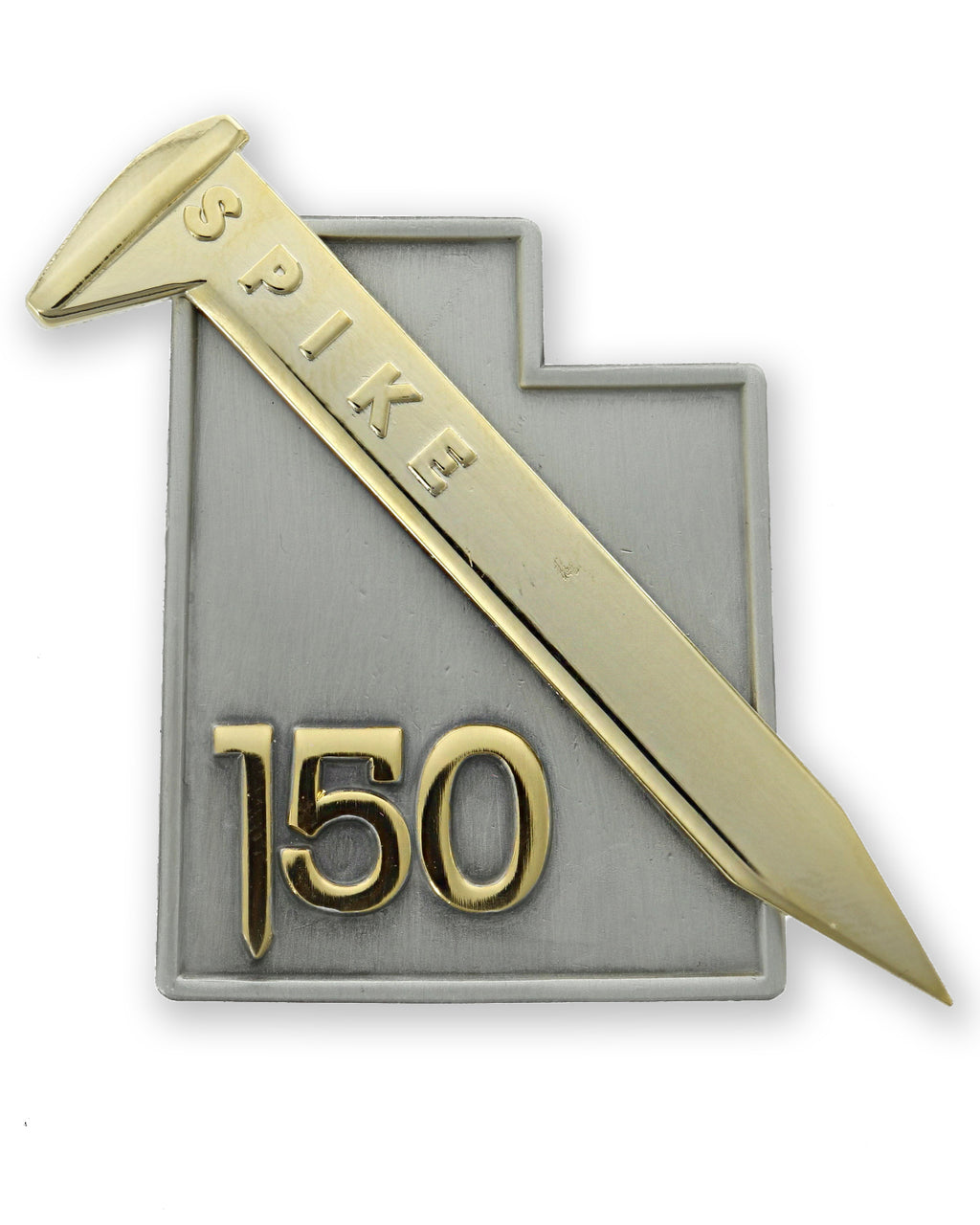 3D Golden Spike 150 Commemorative Pin