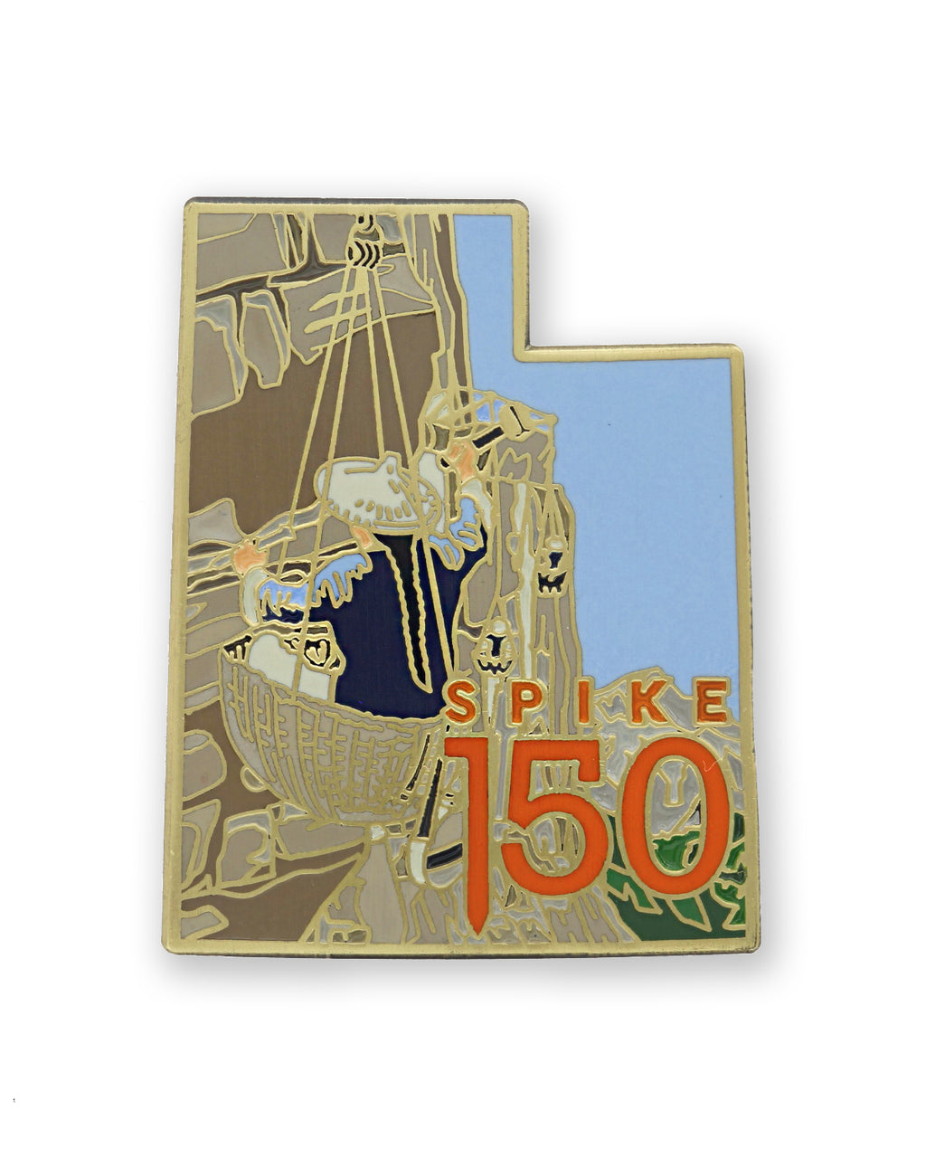 Chinese Railroad Worker Lapel Pin