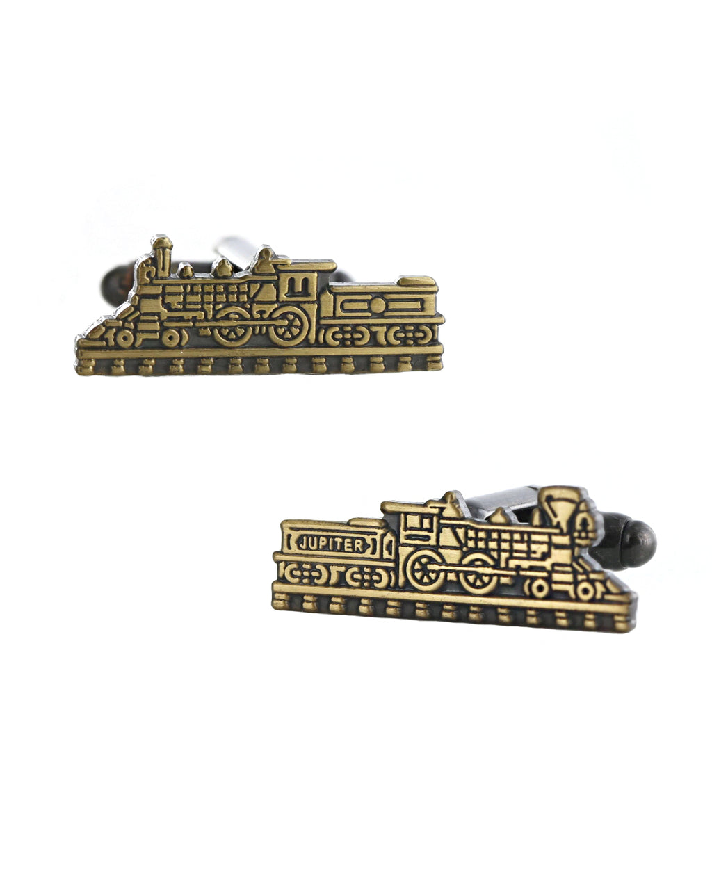 Jupiter & 119 Train Gold Cufflinks