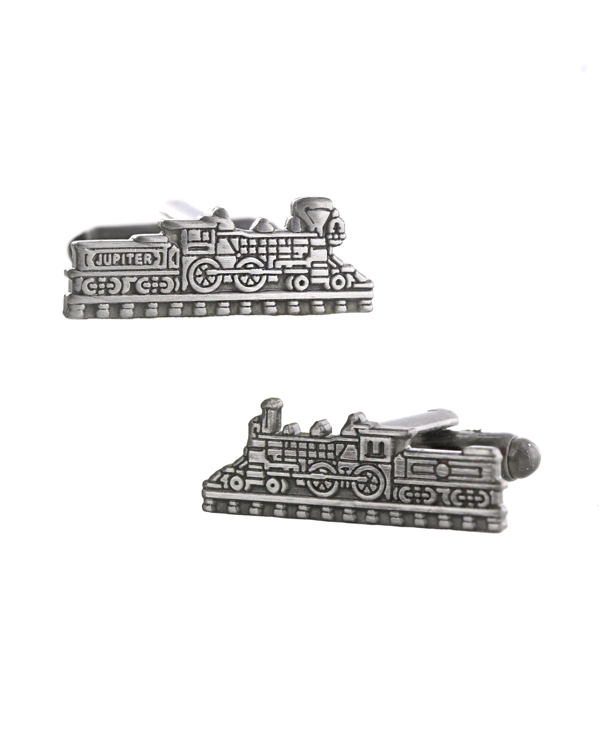 Jupiter & 119 Train Antique Silver Cufflinks