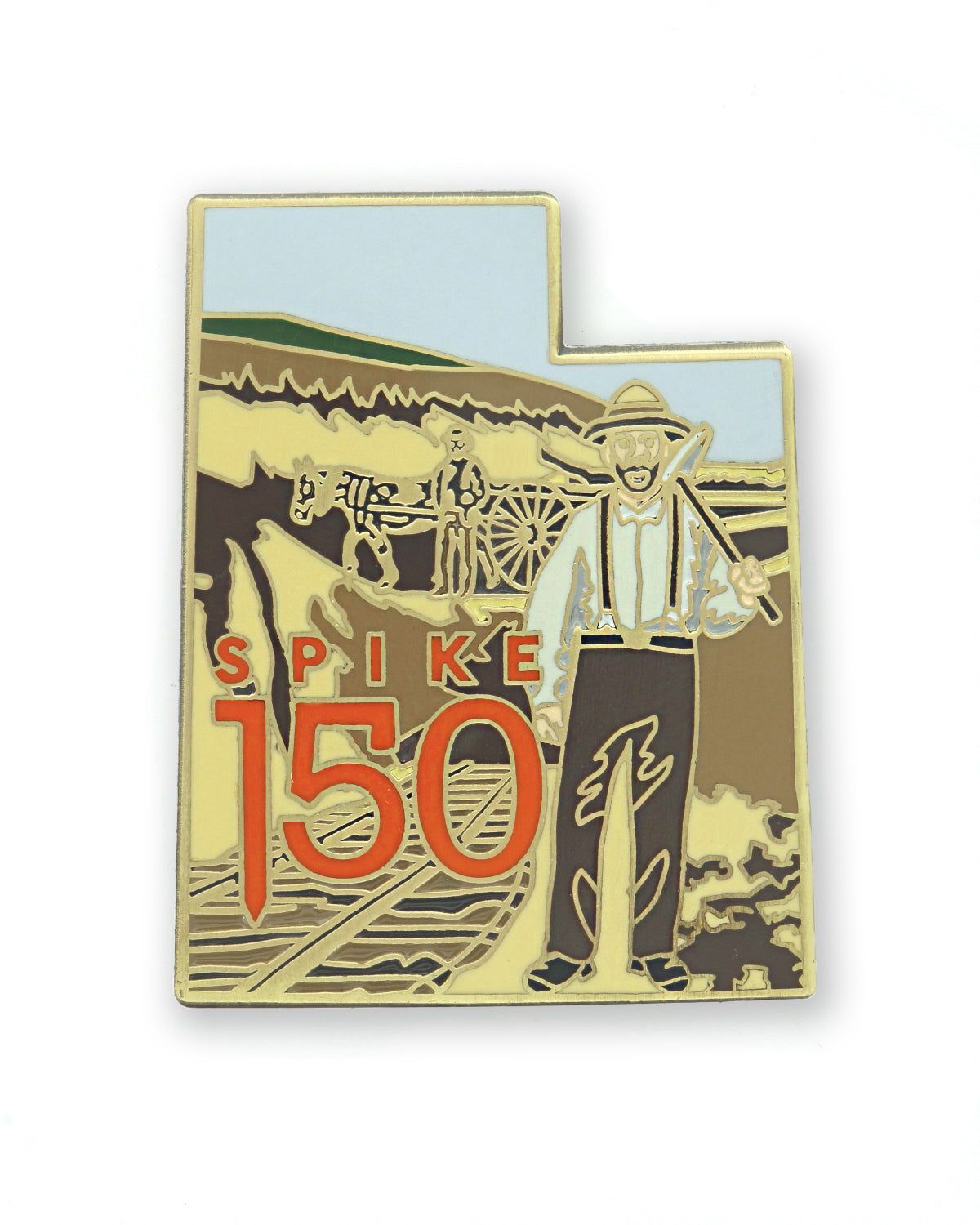 Mormon Grader Railroad Worker Color Pin