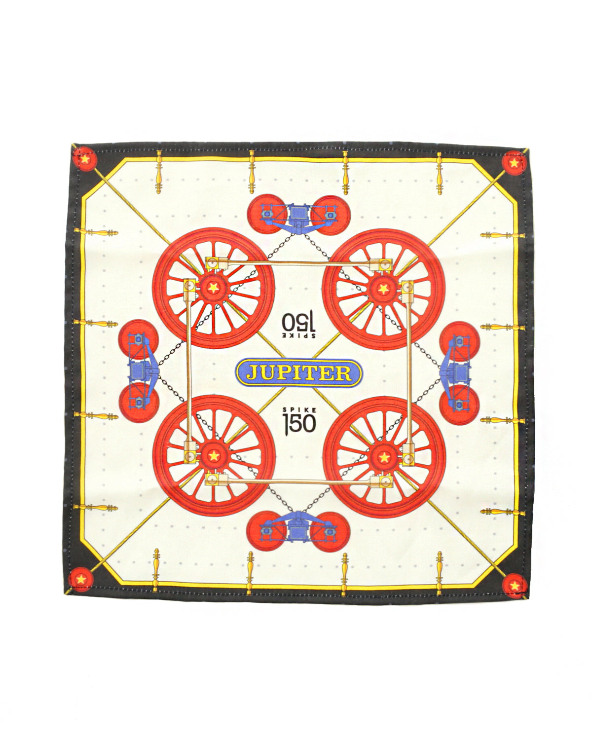Vintage Jupiter Train Designer Handkerchief