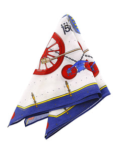Navy Jupiter Train Designer Handkerchief