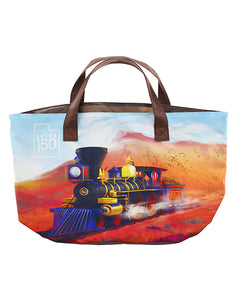 Jupiter Train Illustration Canvas Bag by Alisa Bishop