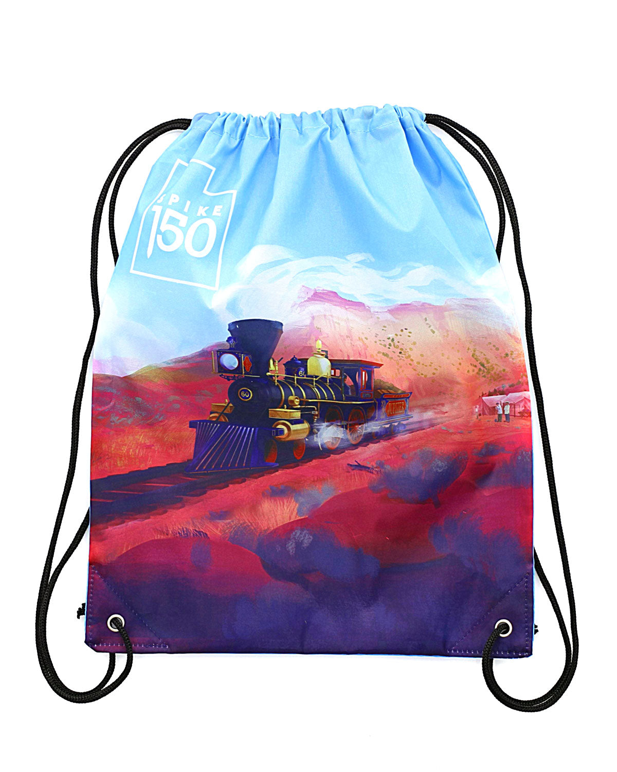 Jupiter Train Drawstring Bag