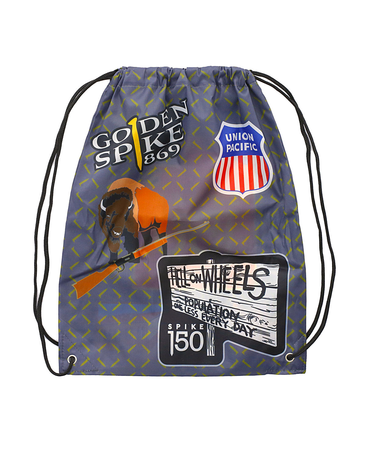 Patches Drawstring Bag
