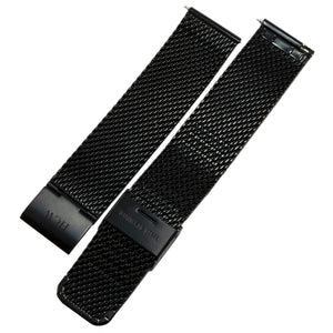 Stainless Steel Wristband - Black Mesh