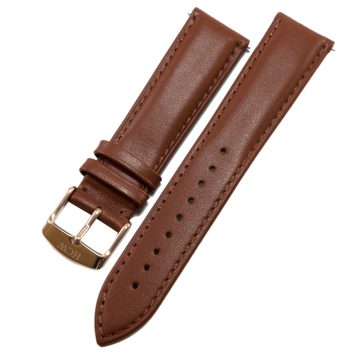 Leather Wristband - Midnight Brown