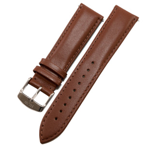 Leather Wristband - Snow Brown