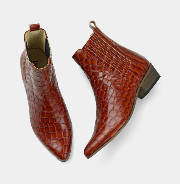 Bailey - Faux Croco Cognac