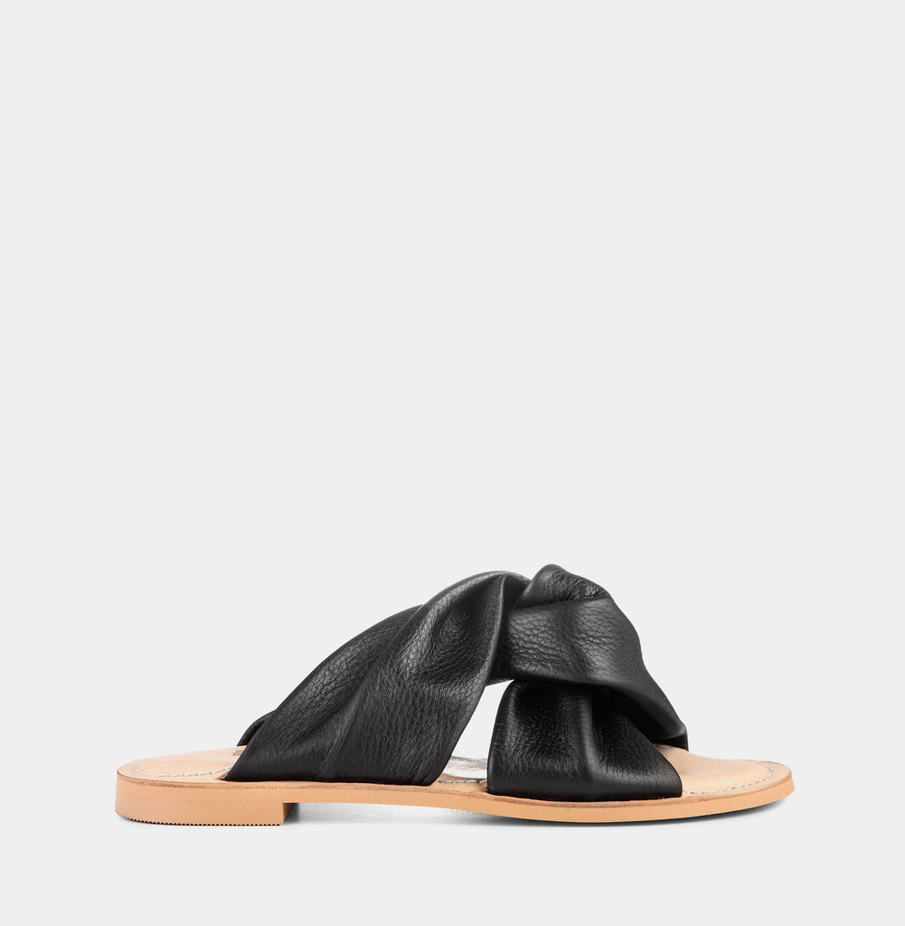 Ellie - Black w natural sole