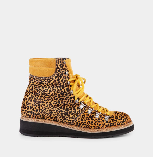 Mountain Leopard - Brown & Mustard