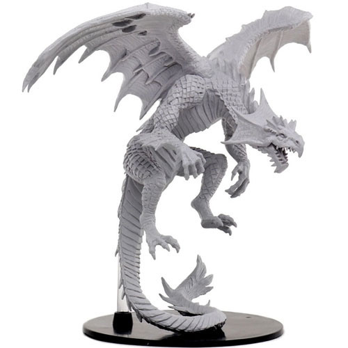 Pathfinder Battles - Deep Cuts Unpainted Miniatures: Gargantuan White Dragon - WizKids/NECA
