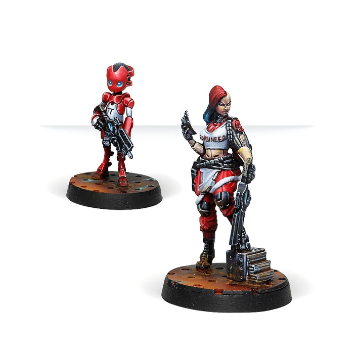 Zoe & Pi-Well, Special Clockmakers Team (Engineer & Remote) - Infinity: Nomads Pack-RedQueen.mx