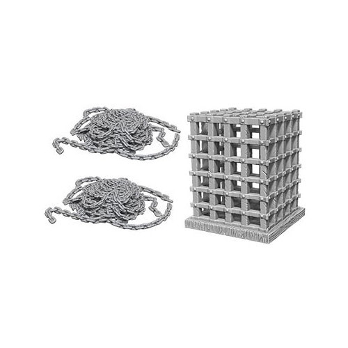 WizKids Deep Cuts Unpainted Miniatures: Cage & Chains - WizKids/NECA