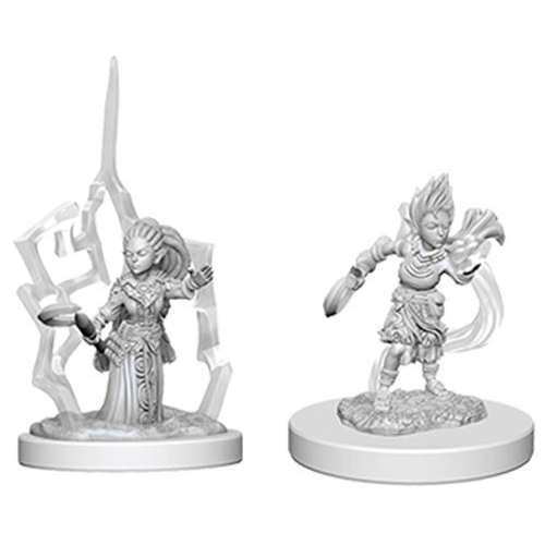 Pathfinder Battles - Deep Cuts Unpainted Miniatures: Female Gnome Druid - WizKids/NECA