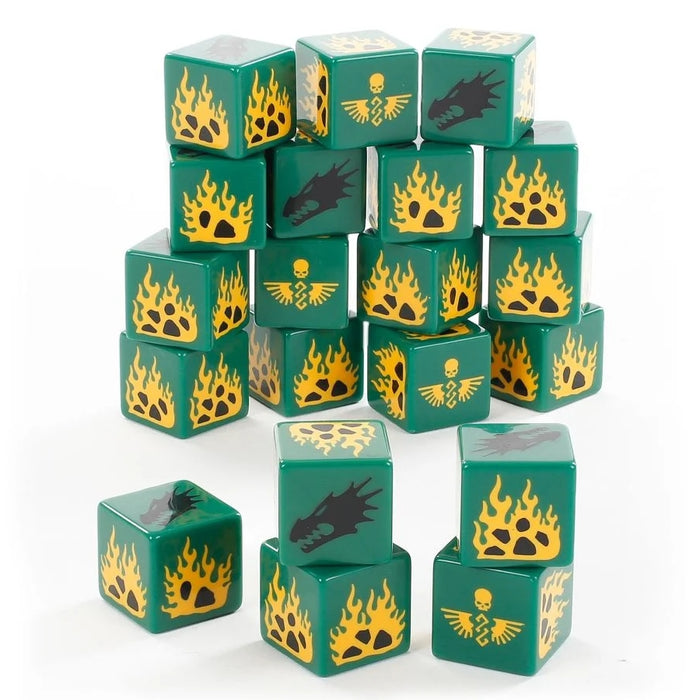Salamanders Dice Set (LE) (OOP) - WH40k: Space Marines