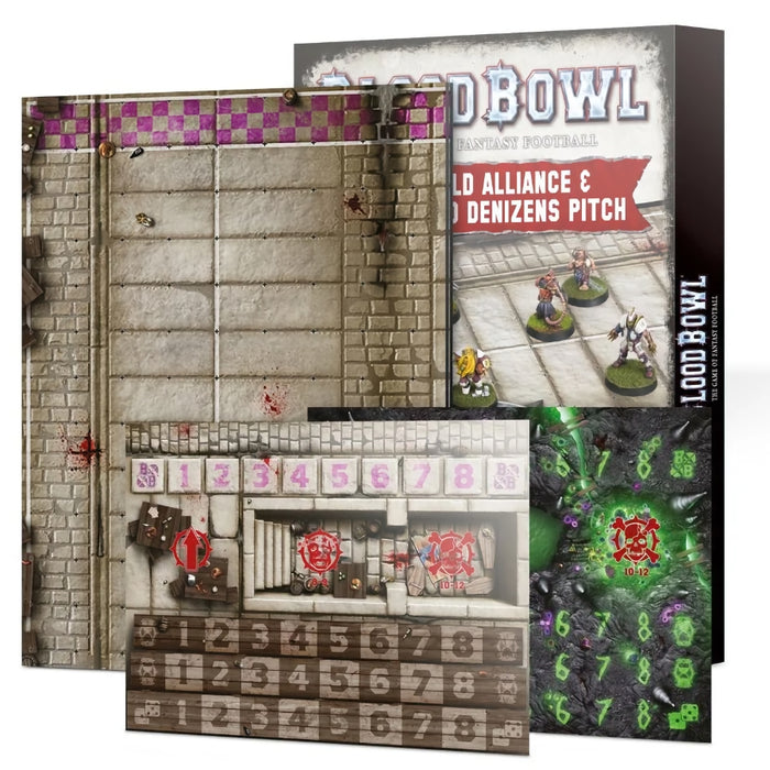 Old World Alliance & Underworld Denizens Pitch and Dugout Set (EN) - Blood Bowl-RedQueen.mx