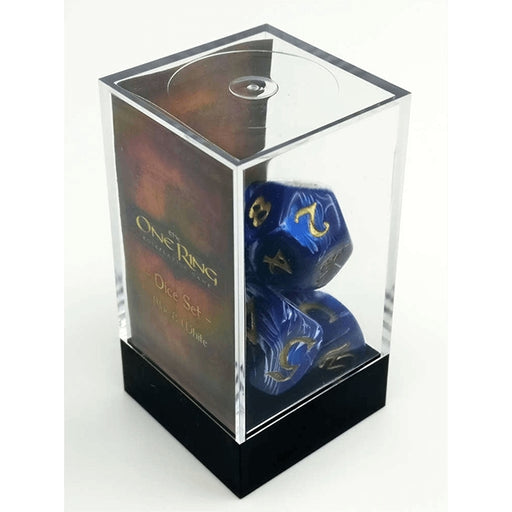 The One Ring Dice Set - Blue and White-RedQueen.mx