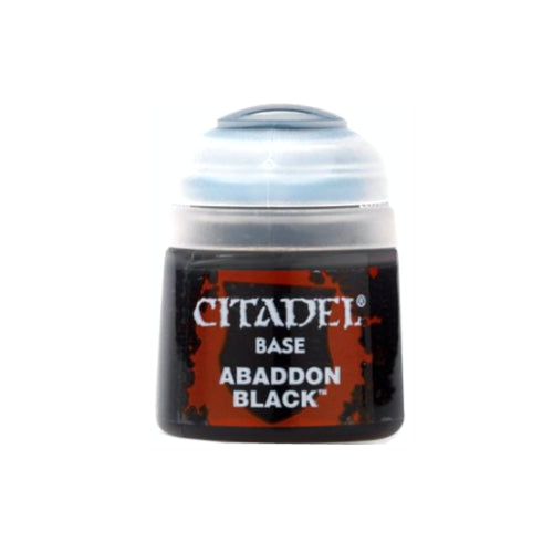 Citadel Colour Base Paint: Abaddon Black (12ml)