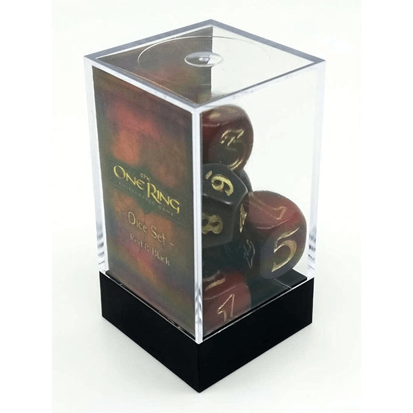 The One Ring Dice Set - Red and Black-RedQueen.mx