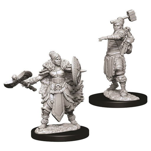 Half-Orc Female Barbarian (2) - D&D Miniatures-RedQueen.mx